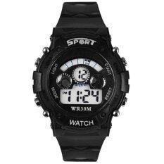 YBC Boy Digital LED Quartz Watch Waterproof Alarm Date Sports Wristwatch Black Malaysia