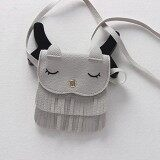 YBC Cute Children Girls Tassel Small Cat Messenger Shoulder Bag