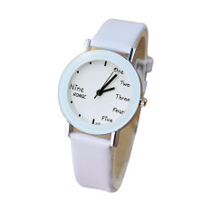 Ybc Fashion Couple Watches Quartz Round Dial Watch For Women (white) By Your Bestchoice.