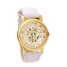 YBC Fashion Non Mechanical Hollow Watch With Imitation Leather Band Strap White Malaysia