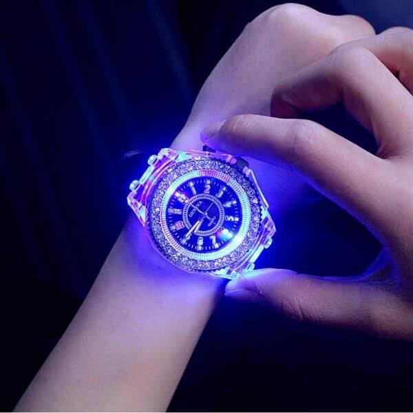 YBC Fashion Women Luminous LED Watch Silicon Diamond Jelly Wristwatch Malaysia