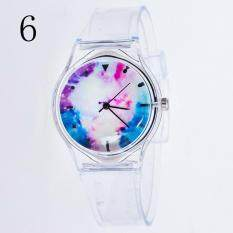 YBC Girl Cartoon Transparent Strap Watches Student Sport Casual Quartz Wristwatch Malaysia