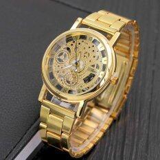 YBC Men Fashion Rome Digital Alloy Strap Clock Hollow Clairvoyant Casual Quartz Watch Malaysia