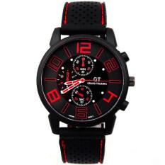 YBC Men Multifunction Sport Quartz Watch Silicon Strip Wristwatch Red Malaysia