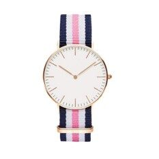 YBC Simple Women Nylon Strap Watches Quartz Lovers Couple Casual Wristwatch Gifts Malaysia
