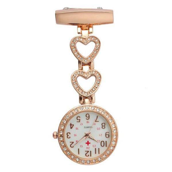 YBC Women Clip-on Heart Pocket Watch Pendant Hang Quartz Watch For Doctor Nurse Malaysia