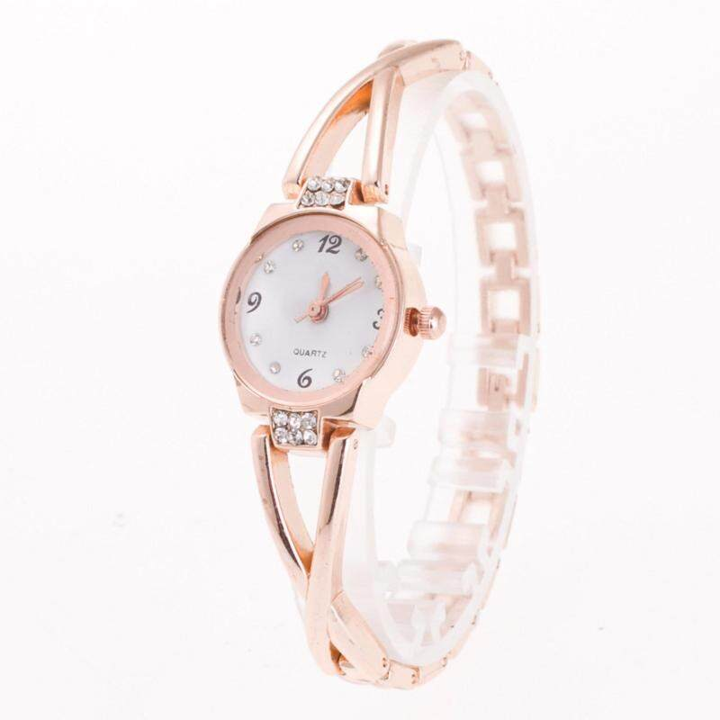 YingWei  Fashion Women Lady Waterproof Rhinestone Quartz Roma Bracelet Watch Rose Gold Malaysia