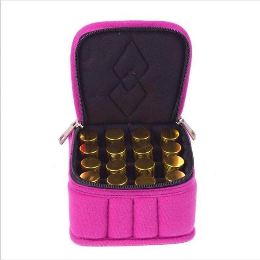 Yingwei Portable Travel 16 Bottles Essential Oil Bag Carrying CaseDouble Zipper Travel Makeup Cosmetic Bag Hot