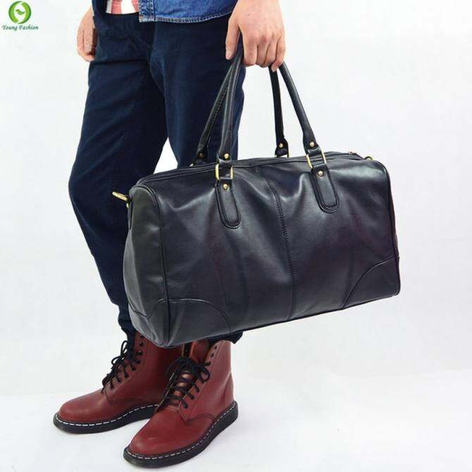 YSLMY 2016 fashion handbag Men's Gym Duffle Satchel Travel PU Leather Shoulder Bag Men Hand bag Large Sport Travel Bags Wholesale