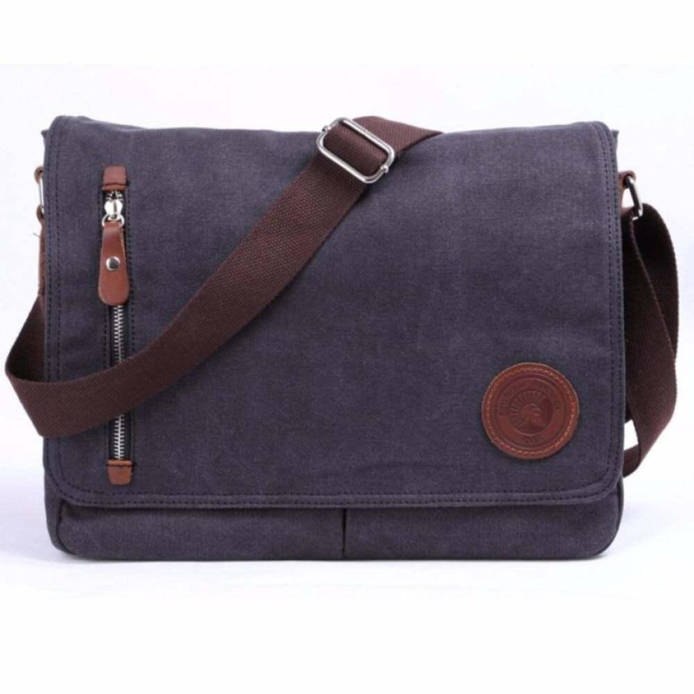 50ffe1e94093 YSLMY Black Durable Fashion Vintage Canvas Messenger Bag Laptop Bag Ipad Bag  Bookbag Satchel Crossbody Bag