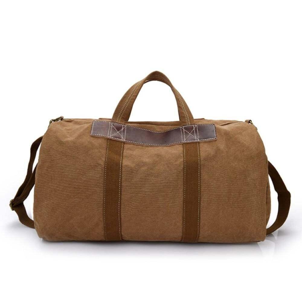 YSLMY Pria Kasual Messenger Casing Besar Pocket Perjalanan Kapasitas Besar Canvas Shoulder Tas Weekender Duffel Bags