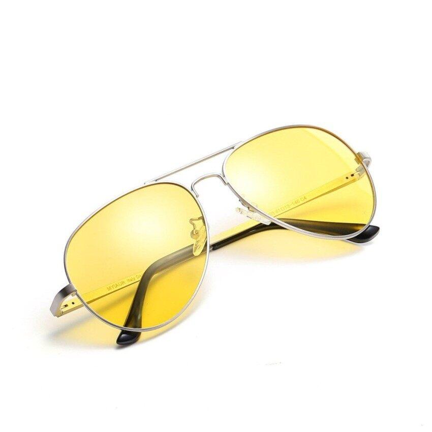Yushong Myiaur HD Malam Vision Terpolarisasi Kacamata untuk Mengemudi Kuning Penerbang Antiglare Kacamata-Internasional