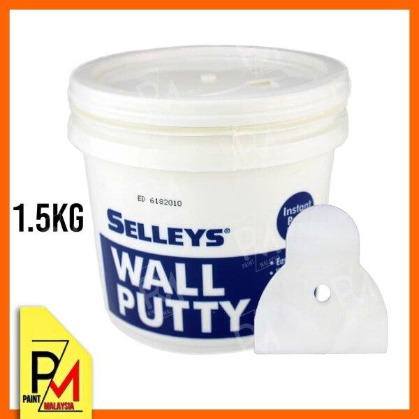 SELLEYS Wall Putty Filler Dempul Dinding Batu Plaster Partition White 1.5Kg
