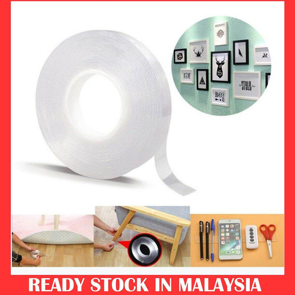 3m Nano Magic Tape Double Sided Strong Reusable Washable Strong Self Adhesive PU Gel Grip