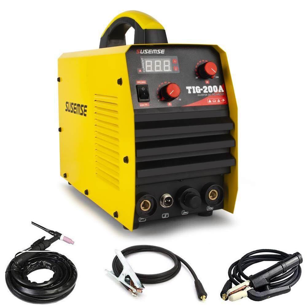 TIG Welder Inverter Single Voltage 220V 200Amp HF Start TIG Welding Machine &Consumables