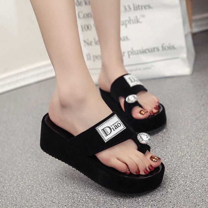 Phiên Bản Hàn Quốc Của Nữ 2020 Giày Cao Gót Đế Dày Có Đệm Xốp Kéo Và Mang Dép Mới Thoải Mái Dép Hàn Quốc Thời Trang Đế Dày Hơn giá rẻ