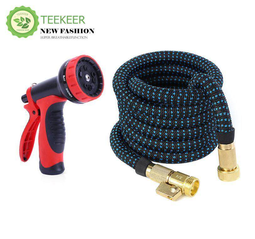 Teekeer 25 FT Expandable Garden Hose, Upgraded Flexible Water Hose Pipe High Pressure Expands 3X with 9 Function Spray Tool Easy Storage for Yard Outdoor Watering, Solid Brass Connector Fittings No Rust Leak