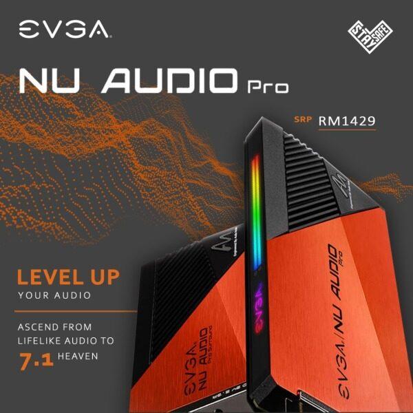 # EVGA NU Audio Pro 7.1 PCIe RGB Audio & Surround Sound Card # Malaysia
