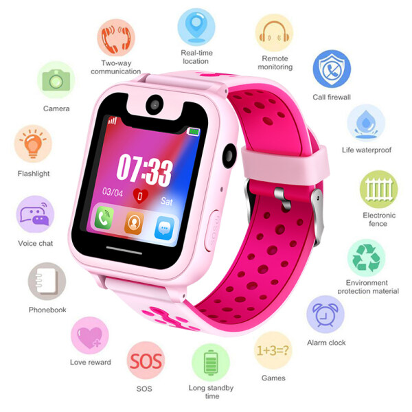 LIGE New Baby Watch Child LBS Positioning Remote Monitoring Lighting SOS Emergency Phone Kid Smart Watch Voice chat Malaysia
