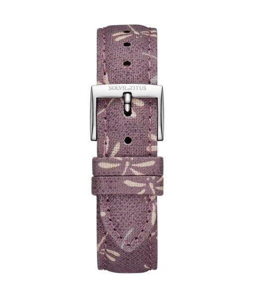 Solvil et Titus T06-078-54-211 16mm Grape Purple Japanese Fabric Watch Strap Malaysia