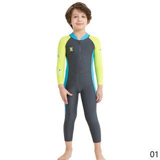 Bộ Đồ Lặn Trẻ Em Một Mảnh Wetsuit Trẻ Em Cho Bé Trai Bé Gái Đồ Bơi Chống Nắng Dài Tay Chống Tia UV Bộ Đồ Bơi Ống Thở Cho Trẻ Em thumbnail