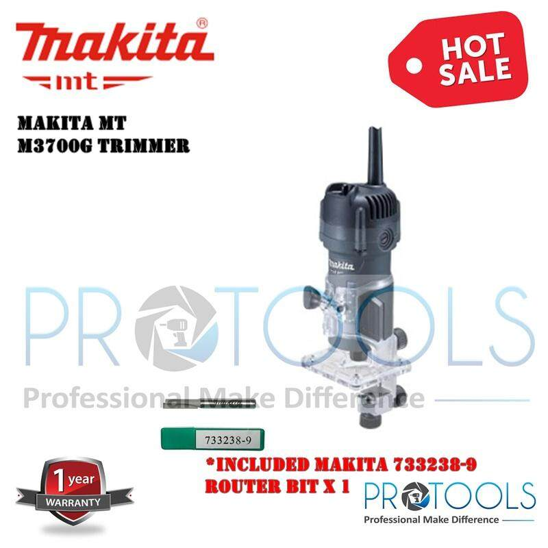 M3700G 6.35MM (1/4) 530W MAKITA Wood Trimmer Router SOLO / SET