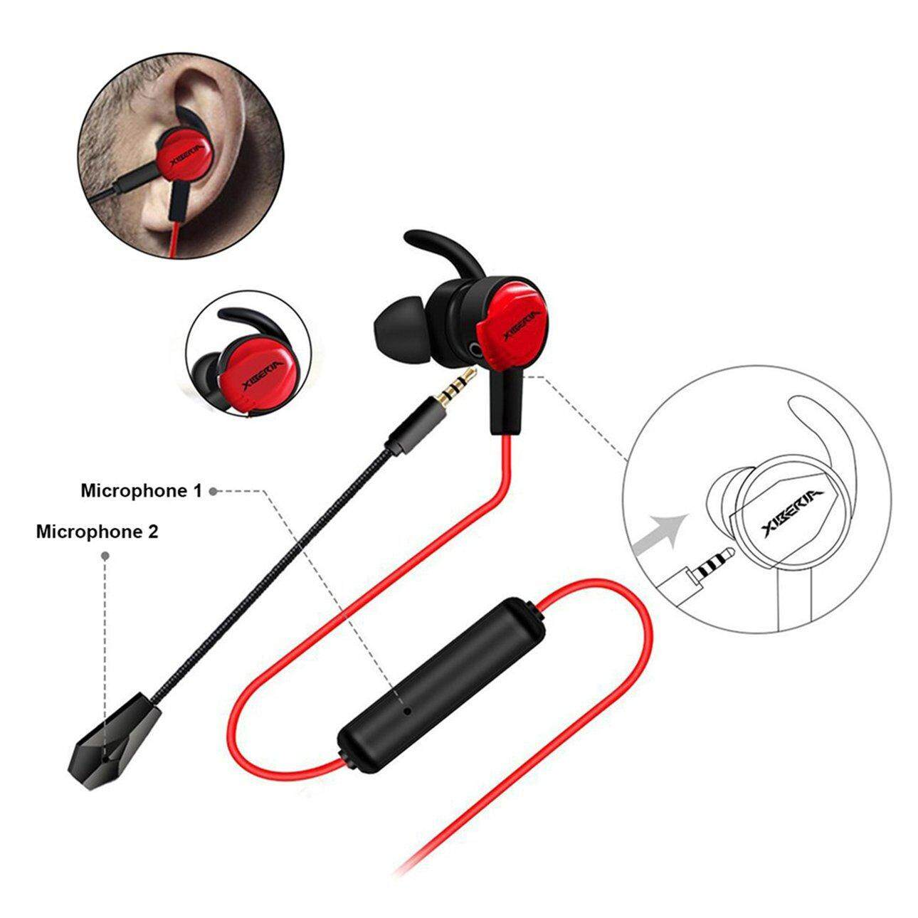 Hot Sales MG-1 Pro Mobile Gamer Gaming Earphone In Ear Headset with 3D  Sound Card