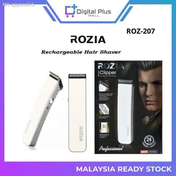 [Ready Stock] ORIGINAL Rozia HQ-207 Men Shaver Rechargeable Trimmer Potong Rambut Mesin Cukur Janggut Pencukur Rambut