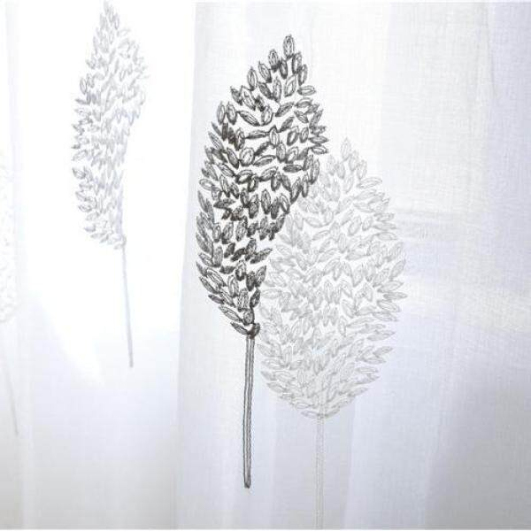 1PCS 150x250cm Elegant Living Room Curtains Embroidered Window Sheers