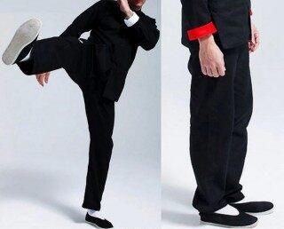 Quần Bruce Lee, Để Quần Áo Tập Thái Cực Quyền Đèn Lồng Nam Võ Thuật Thể Thao Cánh Kiếm Tiền Giải Trí Quần Áo Chun, Nữ Mùa Hè thumbnail