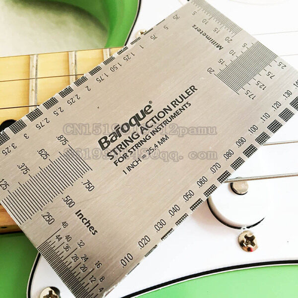 Guitar String Action Ruler Gauge Tool Stainless Steel Double Sided Multi Function Guitar Luthier Accurate String Measurement Malaysia