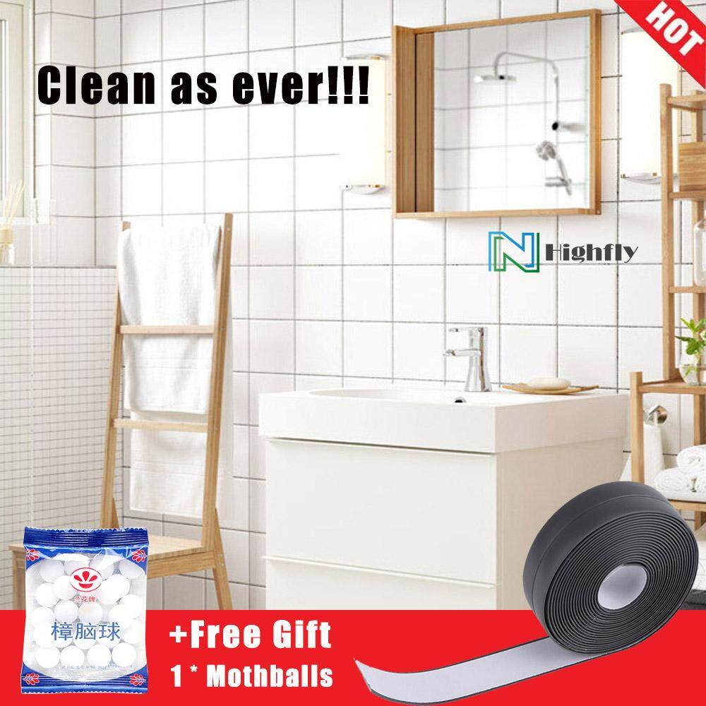 [free Gift] Highfly Waterproof Self Adhesive Wall Strip Tape For Bathroom Basin Kitchen Sink (38mm * 3.2m) By Highfly.