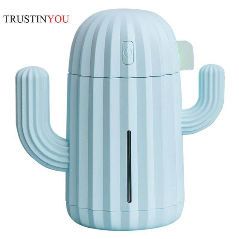 [trustinyou]340mL Cactus USB Charging Humidifier 7 Color LED Aromatherapy Oil Diffuser Singapore