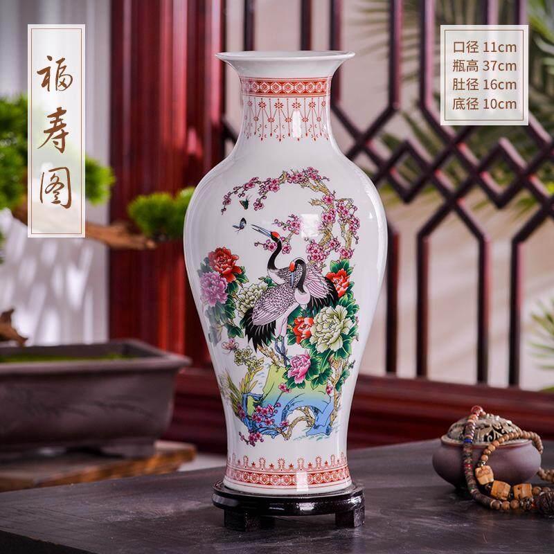Jingdezhen Ceramics Modern Large Vase Flower Arrangement Dried Flower Home Living Room Porch Chinese Craft Decoration Ornament Lazada