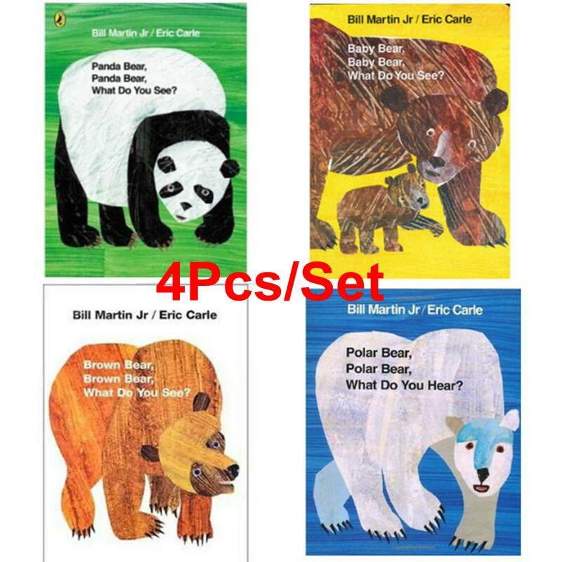 4pcs/set Educational English Picture Book Bear Set Early Learning Card Story Book For Baby Kids Children Gifts By La Chilly.