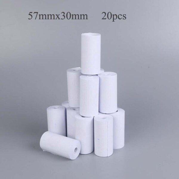 Mua Giấy Nhiệt 57X30 Mm Không Có Lõi BPA Free 20 Cuộn Siêu Dài Điện Thoại Di Động Bluetooth Máy Tính Tiền Giấy Cuộn