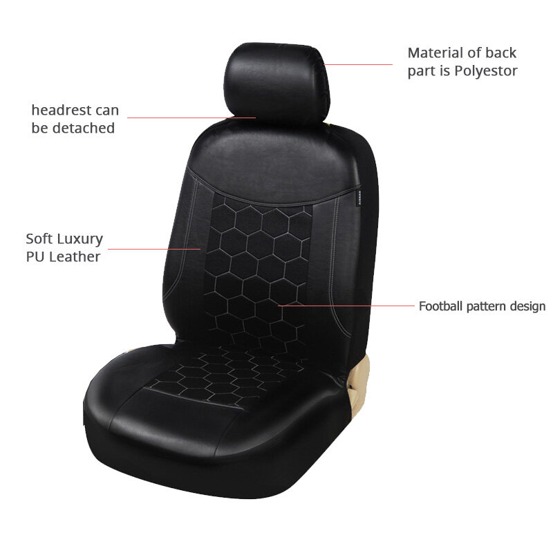 2 BLACK PATTERN FRONT CAR SEAT COVERS
