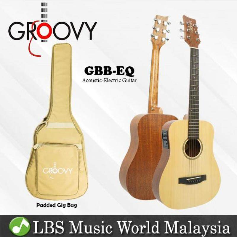 Groovy GBB-EQ 34 Inch Spruce Acoustic Electric Guitar with Bag Fishman Pickup Travel Size Guitar (GBB) Malaysia
