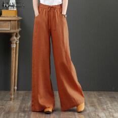 Quần dài nữ Zanzea, màu trơn, dáng rộng, ống rộng, phong cách hàng ngày