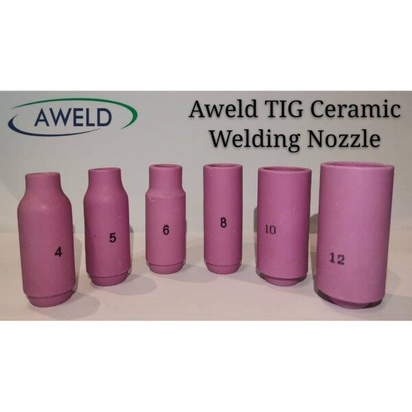 Aweld Tig Welding Ceramic Nozzle Cup Size : 8#10N46 , 12#10N44 , 10#10N45 , 6#10N48 , 4#10N50 , 5#10N49
