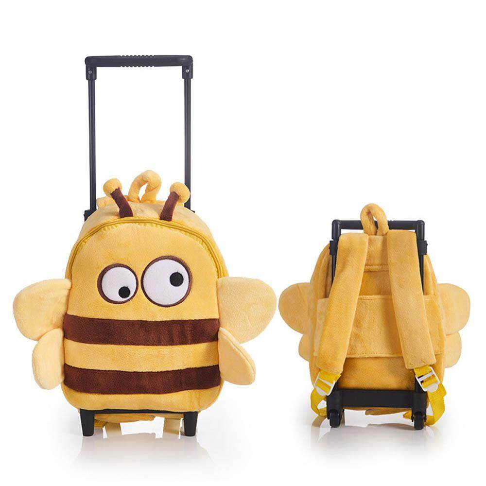 OnLook Cartoon Trolley Backpack Children Luggage Toddler Backpack Kindergarten School Bags with Wheels for Kids(Size:33*9*21)