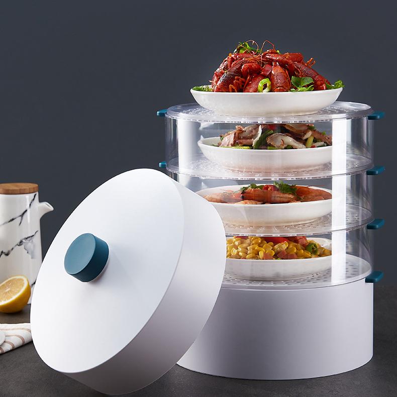 Tấm bọc thức ăn cách nhiệt yoholoo, 5 lớp, có thể xếp chồng lên nhau, dùng để giữ ấm, chống bụi, dày, bộ dụng cụ giữ thức ăn