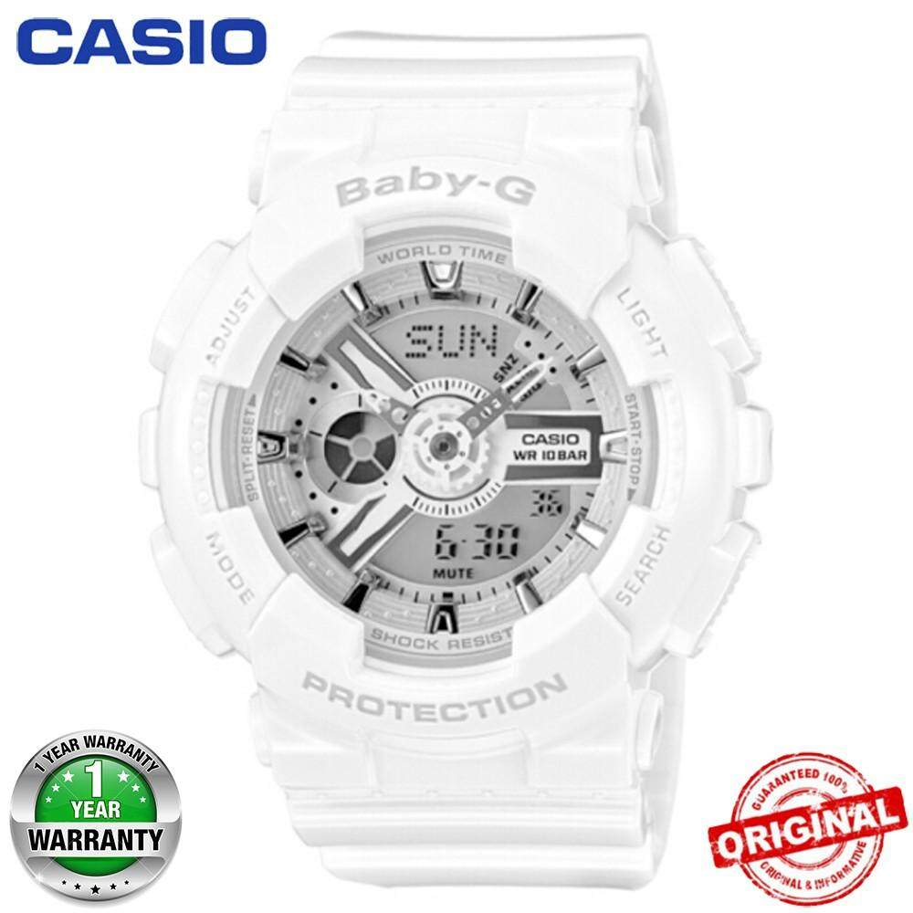 (Ready Stock)Original Casio_Baby-G BA110 White Wrist Watch Women Sport Watches BA110 Malaysia