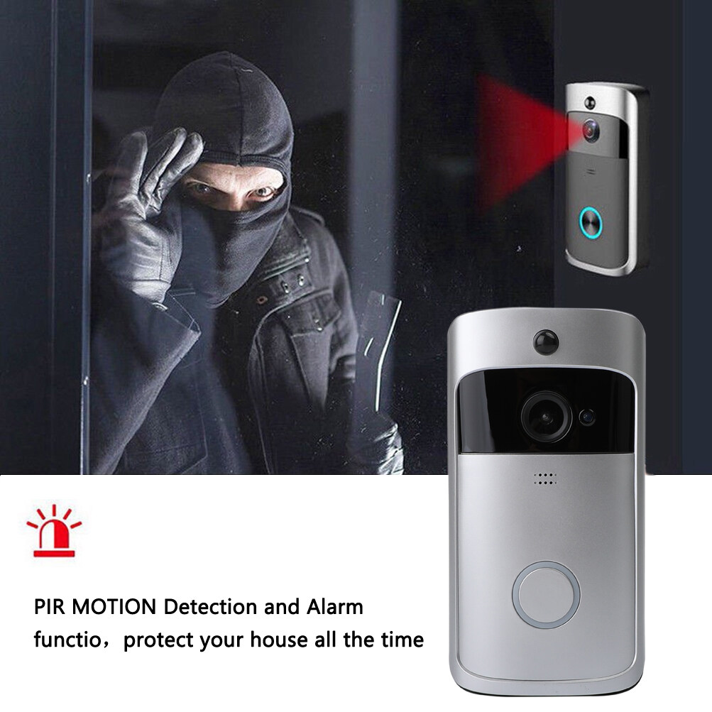 Artudatech Smart Wireless Phone Door Bell Camera Wifi Smart Video Intercom Ring Doorbell.