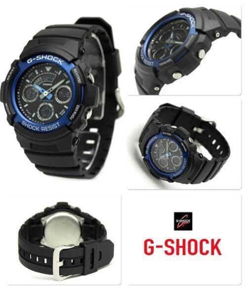 ยี่ห้อนี้ดีไหม  แพร่ 【 STOCK】Original _ Casio_G-Shock AW591 200M กันน้ำกันกระแทกและกันน้ำนาฬิกากีฬาไฟแอลอีดีอัตโนมัติ Wist นาฬิกากีฬาสำหรับผู้ชายและ WomenAW-591-2AJF