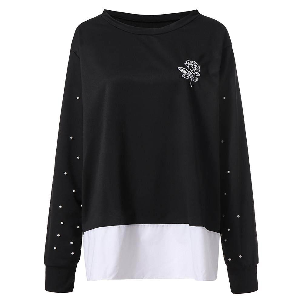 953c37c8c96 Tianji Store Plus Size Women Casual Long Sleeve Loose T-Shirt Tops Blouses