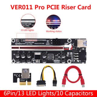 Versea Card Riser V011 Pro PCIE 011 GPU PCI E Express 1X Đến X16 10 Tụ Điện Cáp USB 3.0 Cho Card Đồ Họa GPU thumbnail