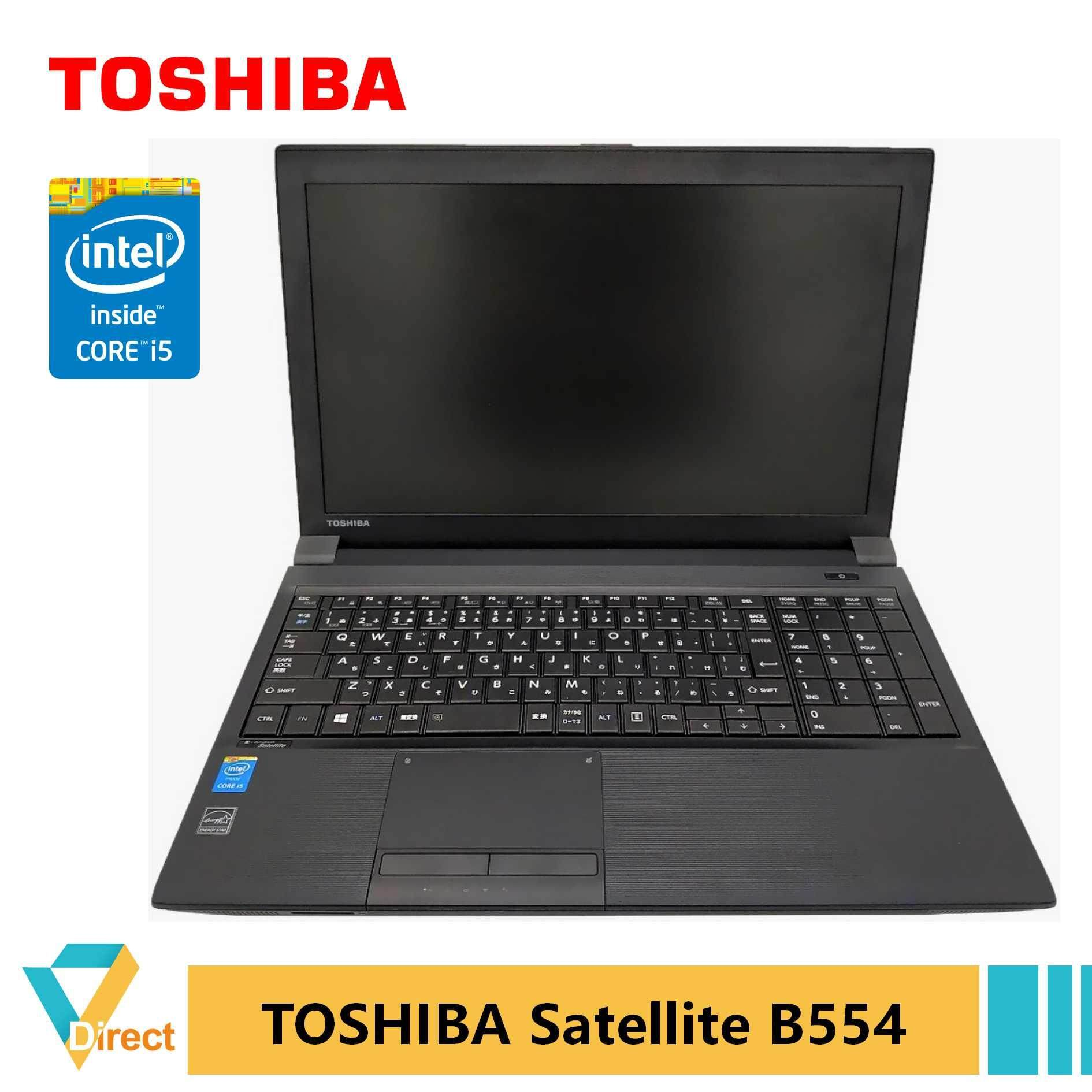 JDM Gen 4 Core i5 Toshiba Satellite B554 laptop PC 8GB 480GB SSD also 4GB 320GB 500GB HDD 240GB Malaysia
