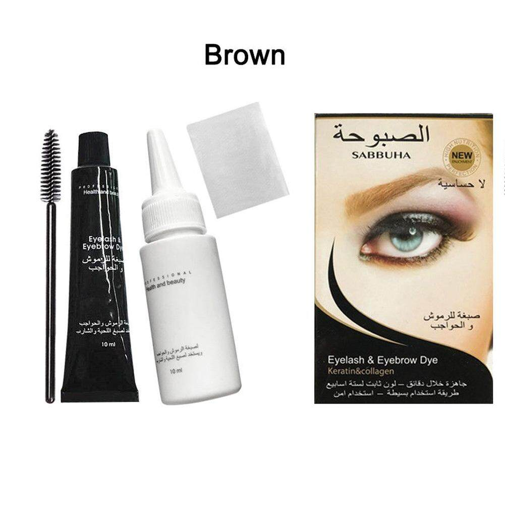 Big Sale Professional Waterproof Eyelash Eyebrow Dye Tint Gel Eye Brow Mascara Cream Brush Kit  NET WT:Black Philippines