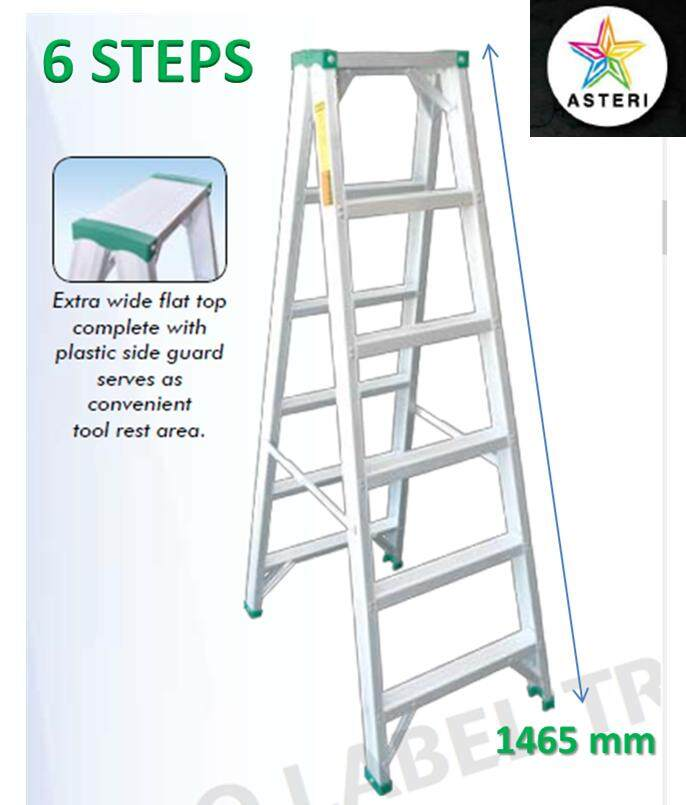 6 Steps Aluminium Double Sided Ladder SDS-06